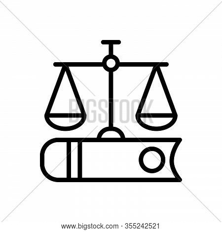 Black Line Icon For Justice Book Fairly Adequately Justly Justice Law Weight Judge Legal Equilibrium