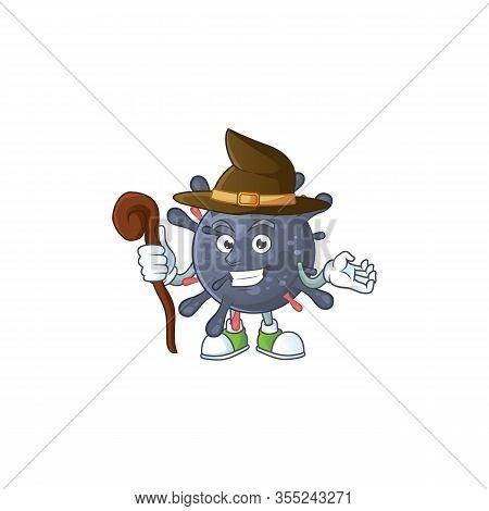 Sweet And Tricky Witch Coronavirus Epidemic Cartoon Character