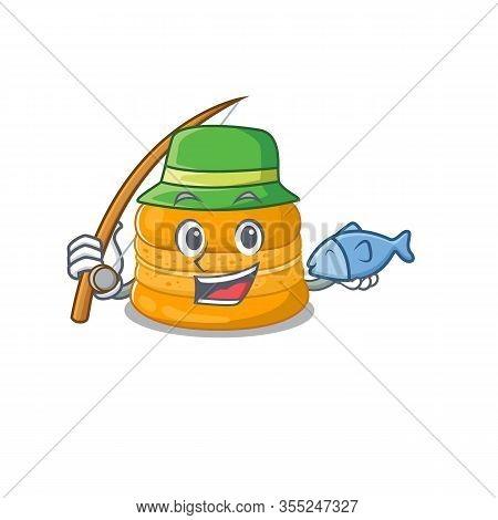 A Picture Of Funny Fishing Orange Macaron Design