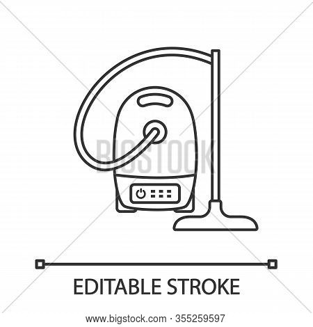 Vacuum Cleaner Linear Icon. Wet And Dry Vacuum. Thin Line Illustration. Household Appliance. Contour