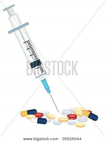 Syringe And Prescription Medication Drugs