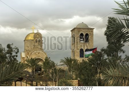 Religious Buildings Belonging To Jordan On The Jordan River Where, According To Tradition, The Israe