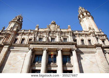 Barcelona Correos post mail building in passeig Colon Via Laietana