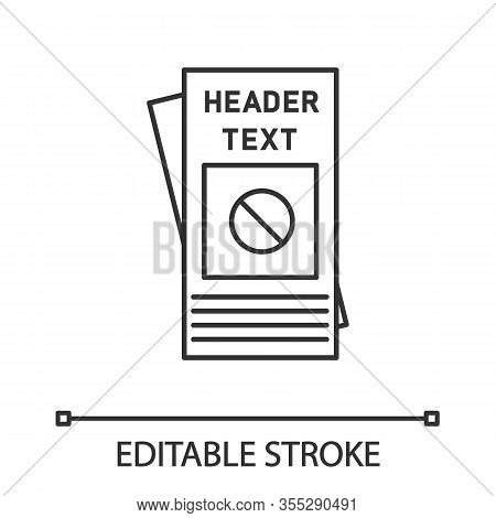 Protest Leaflet Linear Icon. Protest Event. Thin Line Illustration. Social Movement And Propaganda B