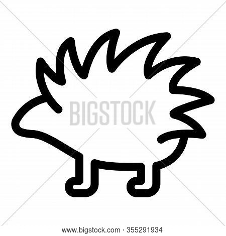 Porcupine Animal Icon. Outline Porcupine Animal Vector Icon For Web Design Isolated On White Backgro