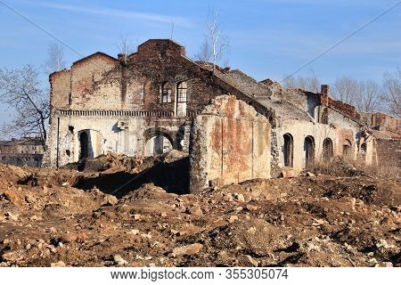 Siemianowice Slaskie, City In Upper Silesia (gorny Slask) Region Of Poland. Abandoned And Ruined Ind