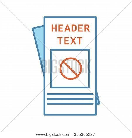 Protest Leaflet Color Icon. Protest Event Announcement. Social Movement And Propaganda Brochure. Hum
