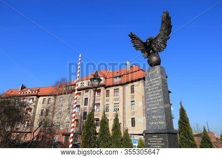 Siemianowice Slaskie, Poland - March 9, 2015: Monument To Silesian Uprisings (powstania Slaskie) In