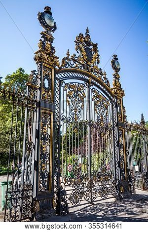 Parc Monceau Entrance Gate In Paris, France