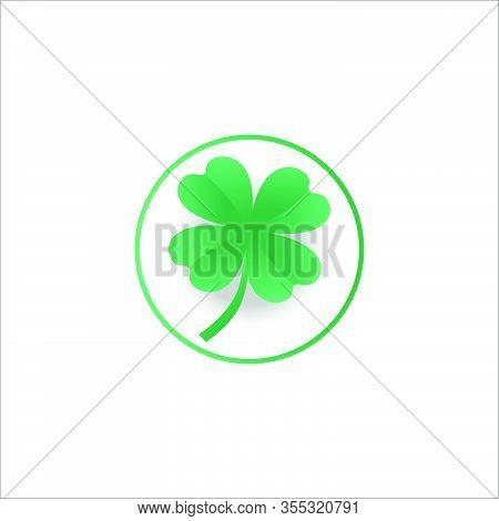 Green Shamrock Leaf Isolated On White Background. You Can Shamrock Leave Use Design Your Website, Ba