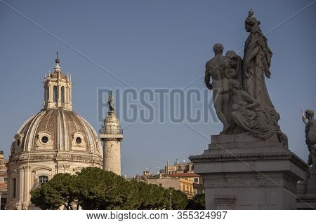 Sculptural Group On The Altar Of The Fatherland Called