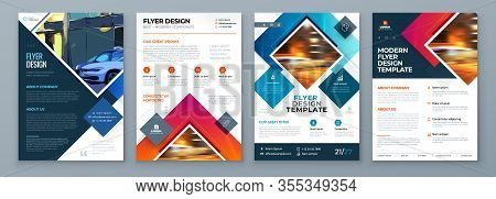Flyer Template Layout Design. Corporate Business Flyer, Brochure, Annual Report, Catalog, Magazine M