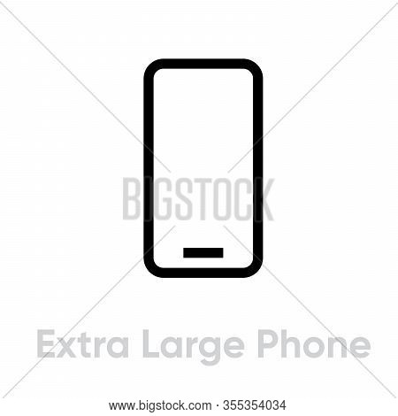 Tech Specs Extra Large Phone Icon. Editable Line Vector.