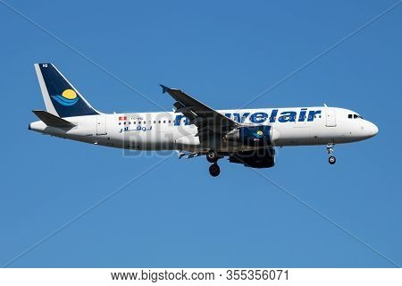 Istanbul / Turkey - March 29, 2019: Nouvelair Airbus A320 Ts-inq Passenger Plane Arrival And Landing