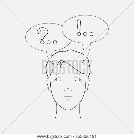 Inner Dialog Icon Line Element. Vector Illustration Of Inner Dialog Icon Line Isolated On Clean Back