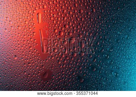 Exclamation Point In Neon Light Background Drops Trend 2020 Color Aqua Menthe Classic Blue Lush Lava