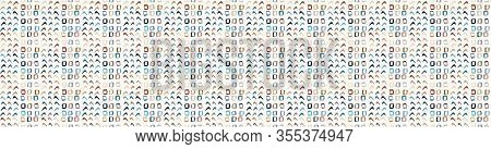 Hand Drawn Whimsical Scribble Lines Seamless Border Pattern. Vector Painterly Textured Organic Marks