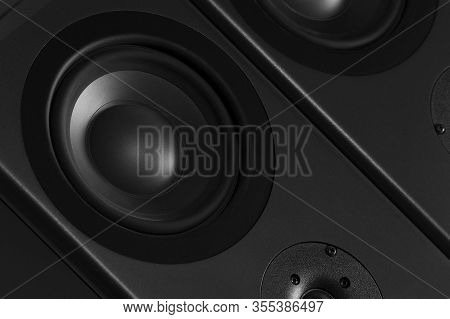 Multimedia Speaker System With Different Speakers Closeup