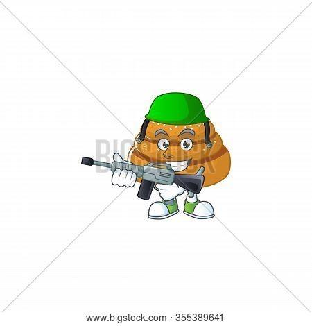 An Elegant Picture Of Kanelbulle As An Army Having Machine Gun