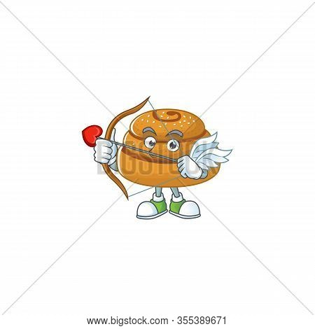 Sweet Cartoon Character Of Kanelbulle Cupid With Arrow And Wings