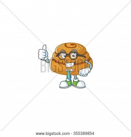 Kanelbulle Successful Businessman Cartoon Design With Glasses And Tie