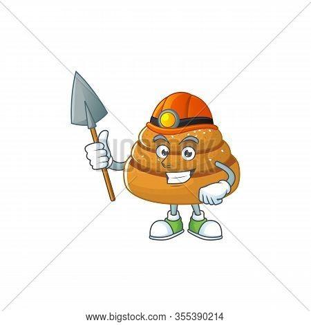 Cool Miner Worker Of Kanelbulle Cartoon Design Concept