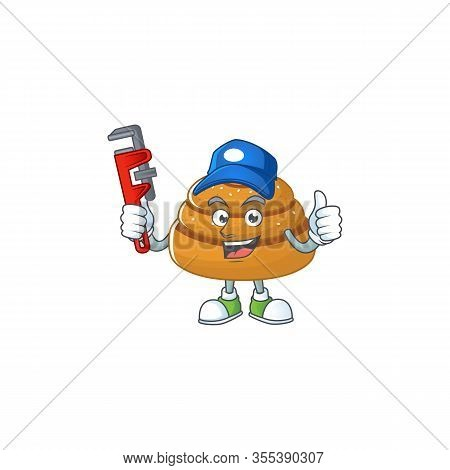 Smart Plumber Worker Of Kanelbulle Cartoon Character Design