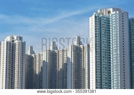 High Rise Residential Building Of Public Estate In Hong Kong
