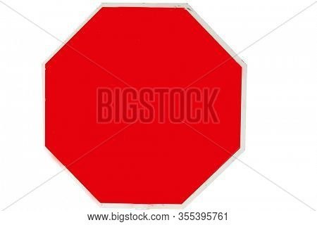 Coronavirus19. Coronavirus Stop Sign. Red USA Stop Sign. Isolated on white. Generic Stop Sign with clipping path. Room for text or images. Traffic Sign.