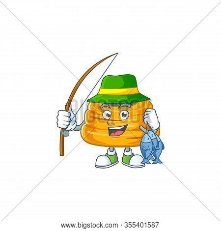Cartoon Character Style Of Funny Fishing Kataifi