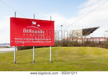 Stoke-on-trent, England - March 20:  The Britannia Stadium Home Of Stoke City Football Club In Stoke