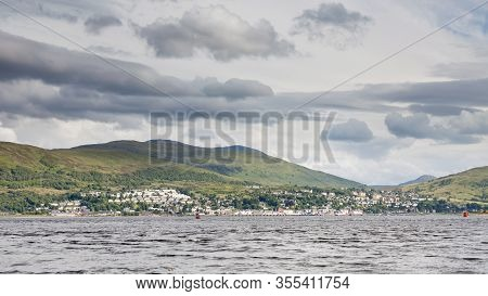 Loch Linnhe.  The View Across Loch Linnhe Towards The Town Of Fort William.  Loch Linnhe Is A Sea Lo