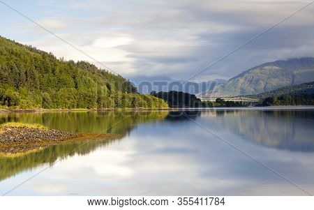 Loch Leven.  A Long Exposure Of The View Across Loch Leven From Ballachulish Towards Ballachulish Br