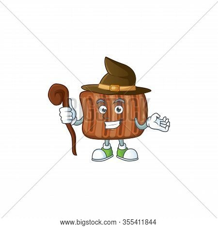 Sweet And Tricky Witch Roasted Beef Cartoon Character