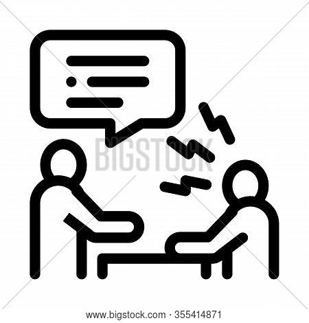 Verbal Battle Icon Vector. Outline Verbal Battle Sign. Isolated Contour Symbol Illustration