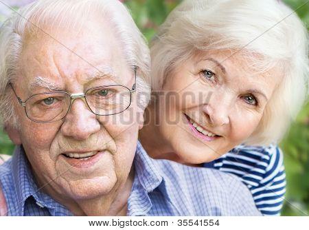 Happy couple portrait, closeup