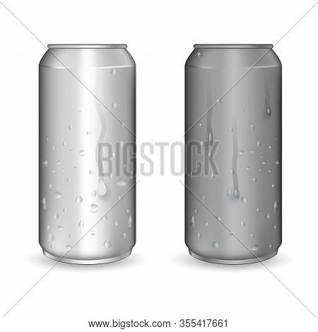 Aluminum Drink Can Template For Beer Or Juice Design. Can Be Used For Lager, Alcohol, Soft Drink, So