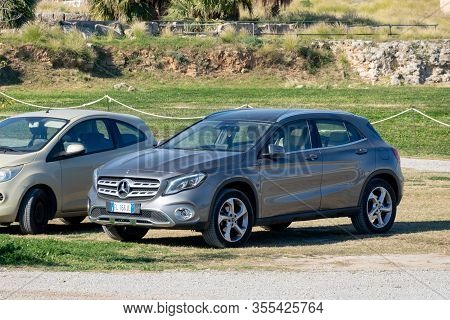 Palermo, Sicily - February 8, 2020: A Fashionable Crossover Mercedes-benz Gla Representing The Most