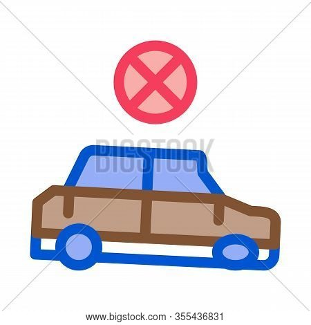 Fixed Car Icon Vector. Outline Fixed Car Sign. Isolated Contour Symbol Illustration