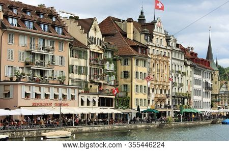 Lucerne: Feb 1, 2020 - Lucerne - Capital Of The Canton Of Lucerne And Part Of The District In Switze