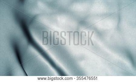 White Clear Waving Flag. National 3d Plush Flag Waving. Sign Of White. 3d Illustration.