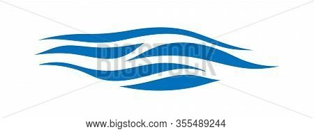 Stylized Marine Pattern. The Excitement Of The Sea. Abstract Water Wave Logo For Logo, Website Or Ap