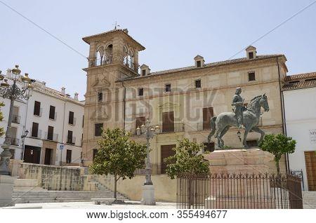 Equestrian Statue In Plaza Of Antequera
