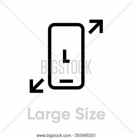 Tech Specs Large Size Phone Icon. Editable Line Vector.