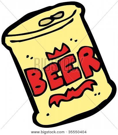 cartoon can of beer