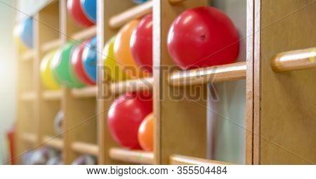Gymnasium Sport Gym With Wooden Ladder