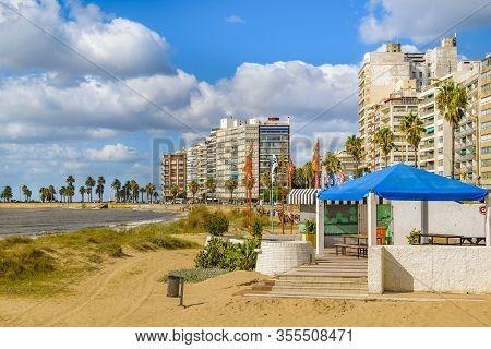 Pocitos Beach Landscape, Montevideo, Uruguay