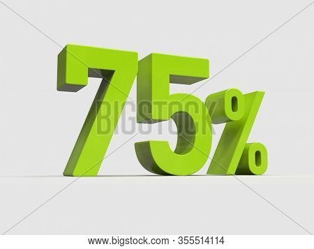 3d Render: 75% Percent Discount 3d Sign on Light Background, Special Offer 75% Discount Tag, Sale Up to 75 Percent Off, Seventy-five Percent Letters Sale Symbol, Special Offer Label, Sticker, Tag