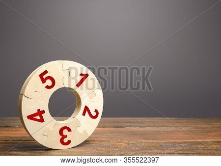 Numbered Puzzle Ring. Contract, Agreement Road Map. Business Planning, Action Plan. Priority Task It