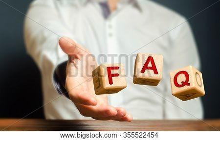 Cubes Thrown By A Man Make Word Abbreviation Acronym Faq (frequently Asked Questions). Convenient Fo